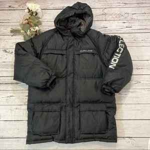 FUBU goose down hooded utility jacket